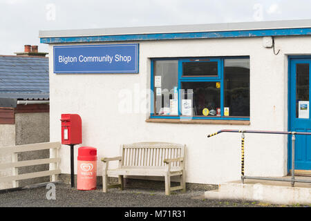 Bigton Community Shop, Bigton, South Mainland, Shetland, UK - Stock Image