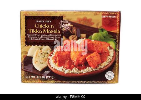 Trader Joe's Chicken Tikka Masala Prepared Frozen Dinner - Stock Image