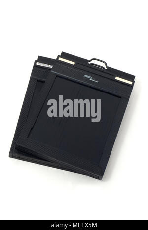 Fidelity Deluxe 4x5' large format film holders. - Stock Image