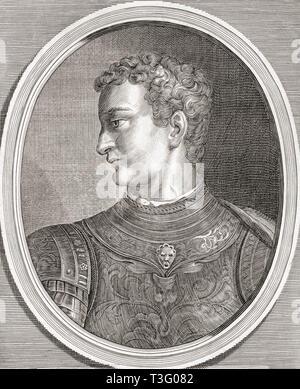 Caligula, 12 AD - 41 AD.  Roman emperor. - Stock Image