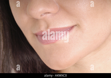 Lower face and lips. - Stock Image