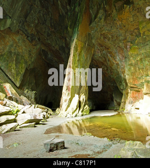 Cathedral Cave in Little Langdale - Stock Image