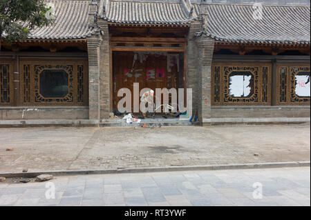 Bike repair in Pingyao, China - Stock Image