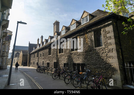 Corpus Christi College looking South from Free School Lane Cambridge England 2019 - Stock Image