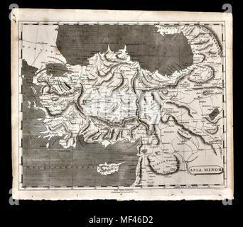 1804 Arrowsmith Map - Asia Minor Turkey Constantinople Istanbul - Stock Image