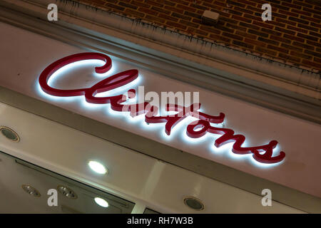 Clintons,Card Shop,Greetings Cards,shop.store,sign - Stock Image