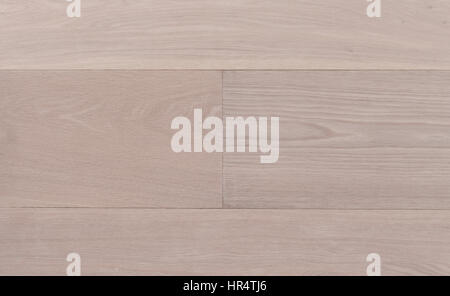 Top view photo of rustic white oiled Italian oak wooden floor boards with nice texture - Stock Image