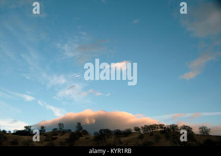 Sunset in Capay Valley, CA - Stock Image
