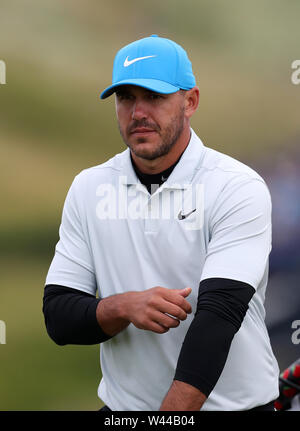 Portrush, County Antrim, Northern Ireland. 19th July 2019. The 148th Open Golf Championship, Royal Portrush, Round Two ; Brooks Koepka (USA) walks to the tee at the par three 13th hole Credit: Action Plus Sports Images/Alamy Live News - Stock Image