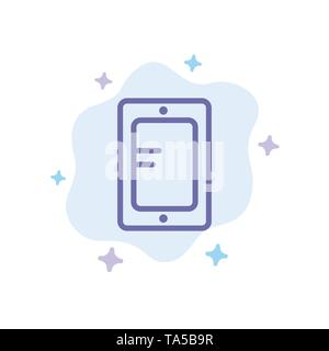 Mobile, Online, Study, School Blue Icon on Abstract Cloud Background - Stock Image