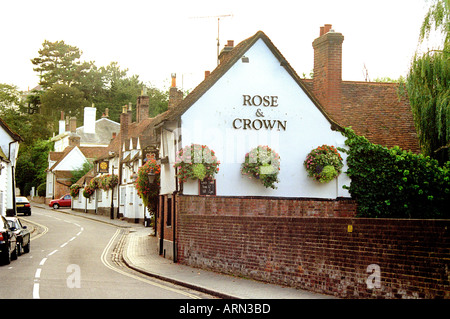 The Rose and Crown Public House, St Albans, Hertfordshire, UK - Stock Image