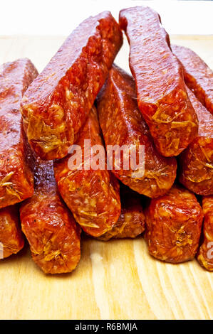 Smoked Sausage Of The Black Forest - Stock Image