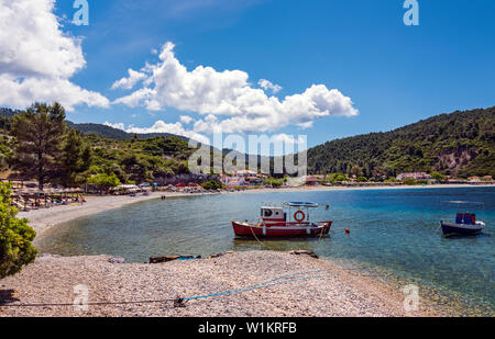 Panormos Beach, Skopelos, Northern Sporades Greece. - Stock Image