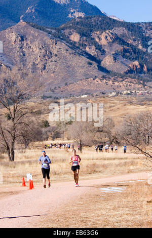 Women running in Colorado Springs - Stock Image