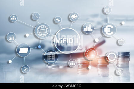 The Markets in Financial Instruments Directive. MiFID II. Investor protection concept - Stock Image
