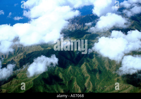 Amazon Jungle from the Air Venezuela - Stock Image