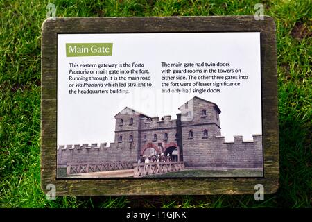 Ambleside Roman Fort,Lake District,Cumbria,England,UK - Stock Image