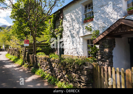Knotts View Guest House that sells English Lakes luxury traditional ice cream at Stonethwaite in the Lake District - Stock Image