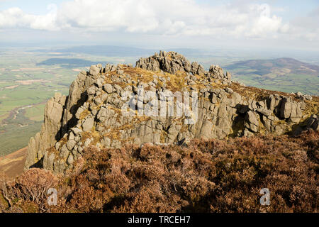Wrapped in legends Crotty's Rock high on the slope of Comeragh Mountains.County Waterford,Ireland. - Stock Image