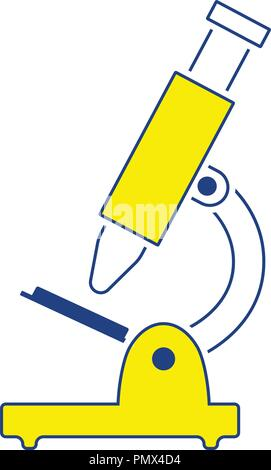 Icon of School microscope. Thin line design. Vector illustration. - Stock Image