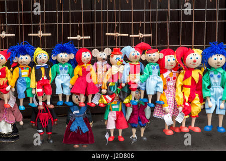 Europe, Czech Republic, Prague. Puppets for sale at Havel's Market. Credit as: Wendy Kaveney / Jaynes Gallery - Stock Image