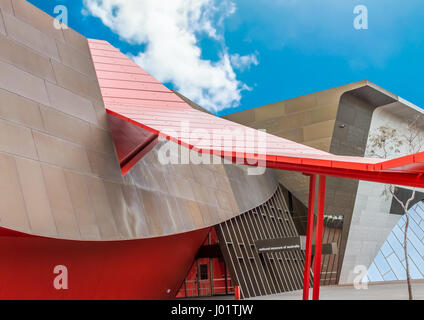 Stunning architecture of the National Museum of Australia, Canberra, ACT.  Digitally altered sky. - Stock Image