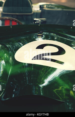 number 2 racing car - Stock Image