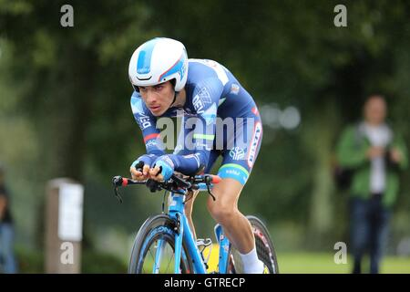 Bristol, UK.  10th September 2016. Tour of Britain stage 7a, time trial.  Guillaume Martin Credit:  Neville Styles/Alamy - Stock Image