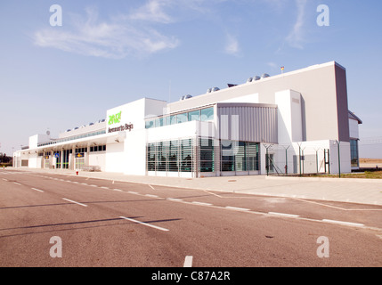 Exterior of the new Beja Airport terminal in the Alentejo, southern Portugal - Stock Image