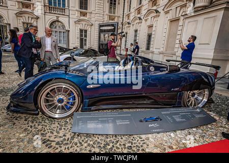 Piedmont Turin - Turin auto show 2019  - Valentino park - Valentino castle -Pagani Zonda Hp barchetta - Stock Image