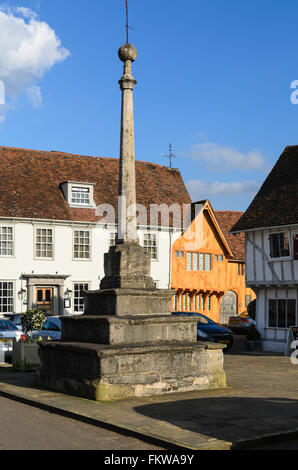 A monument in the Market Place, Lavenham, Suffolk, England, United Kingdom. - Stock Image