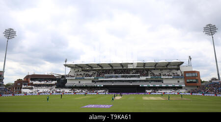 A general view of action between England and Pakistan looking toward the Emerald Stand during the One Day International match at Emerald Headi endngley, Leeds. - Stock Image