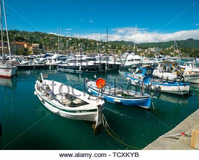Harbour at Santa Margherita Ligure - Stock Image