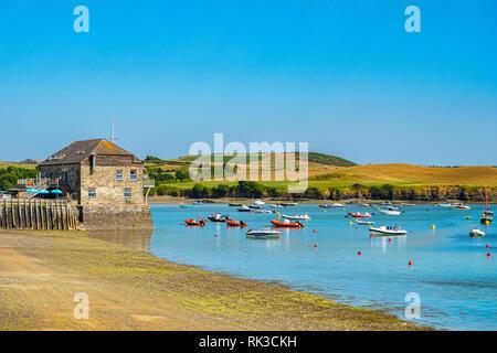 Boats on the Camel Estuary at Rock, Cornwall, UK - Stock Image
