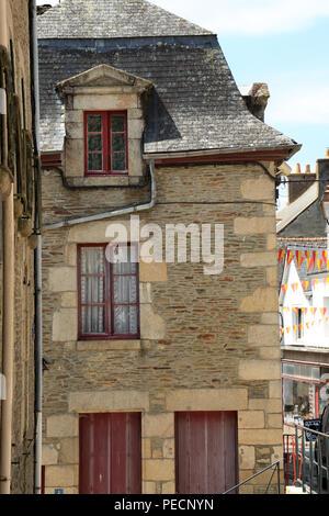 Building in Rue Beaumanoir, Josselin, Morbihan, Brittany, France - Stock Image