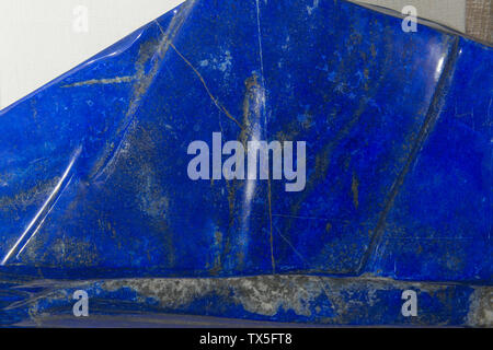 Detail of a huge Lapis lazuli from Afghanistan. Geological Museum of China. - Stock Image