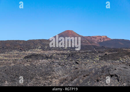 Volcanic landscape with Teneguia volcano, La Palma Island, Canaries, Spain - Stock Image