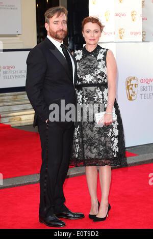 London, UK. 18th May, 2014. Matthew Macfadyen and Keeley Hawes attend the Arqiva British Academy Television Awards - Stock Image