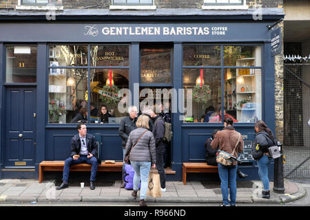 The Gentlemen Baristas Coffee Store near Borough Market and London Bridge on Park Street in Southwark, South London England UK  KATHY DEWITT - Stock Image