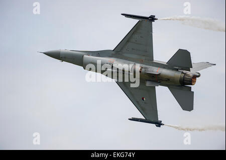 Royal Netherlands Air Force F16M Fighting Falcon RIAT 2014 - Stock Image