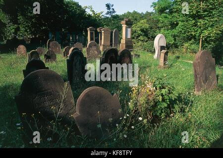 Worms Of The Rhine Valley Jewish Cemetery - Stock Image