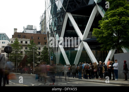 St Marys Axe London EC3 - Stock Image