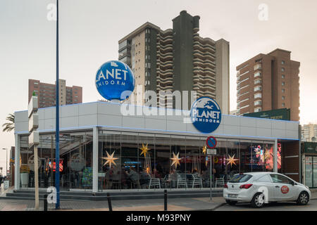 Planet Benidorm bar in Benidorm New Town, Spain - Stock Image