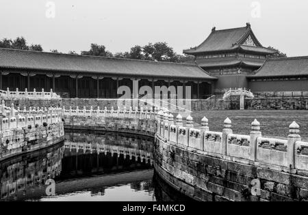 Inner courtyard of the Forbidden City in Beijing, China - Stock Image