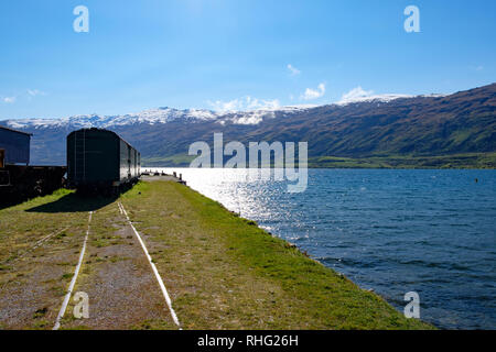 Kingston Flyer heritage railway , near Queenstown, New Zealand - Stock Image