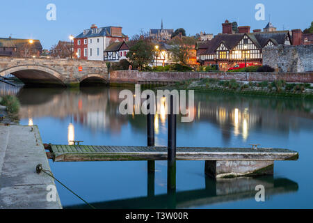 Dawn in Arundel, West Sussex, England. - Stock Image