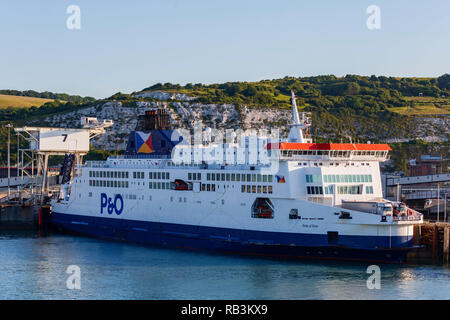 P&O Ferry in the Port of Dover, Kent, England, United Kingdom - Stock Image
