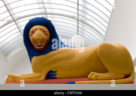 Reconstruction of a lion from a Greek tomb - Stock Image