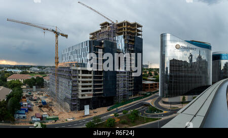 Sandton, South Africa - November 24, 2018: Construction of the Katherine Towers in the Sandton CBD in South Africa - Stock Image