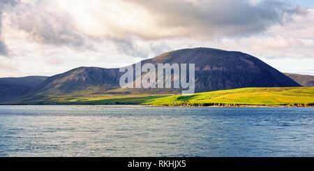 Ward Hill mountain, Hoy Island, West Coast, Orkney Islands, Scotland, Great Britain - Stock Image